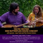 Two Odd Butterflies house concert poster